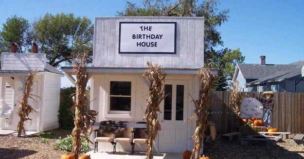 Front of the birthday house.